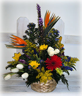 Flowering Basket Arrangement